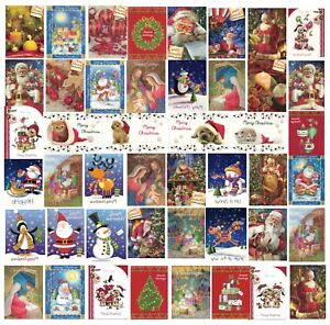 8x, 12x Christmas Cards Colourful Designs 11x15cm with Envelopes