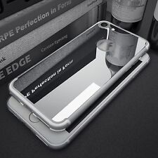 Mirror Back Rubber Crystal Clear Bumper Case Cover for iPhone 5 6 7 7S Plus