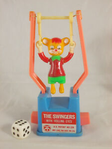 Mechanische Spielfigur The Swingers with rolling Eyes Maus 60er 70er TM Toys USA