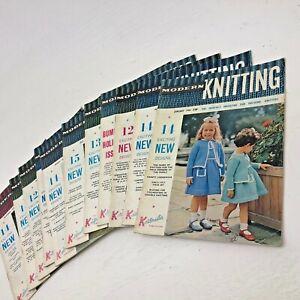 Modern Knitting Magazine Job-lot 1961's Vintage Collectors Hobby Sewing Machine
