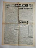 N805 La Une Du Journal Le Matin 23 décembre 1944 l'offensive rundstedt