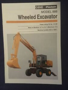 Case Poclain 888 Wheeled Excavator Brochure