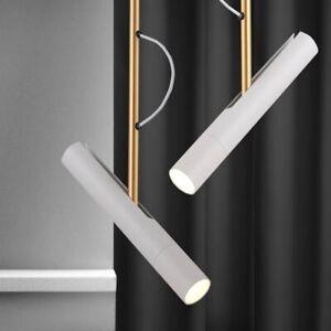 LED Pendant Lights Remote Control Brushed Nickel Direction Adjustable Hotel Lamp