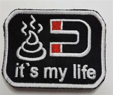 Patch écusson Fun Pistole IT 'S MY LIFE avec Velcro Noir