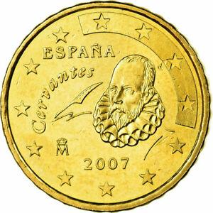 [#698847] Espagne, 10 Euro Cent, 2007, SPL, Laiton, KM:1070
