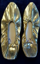 Pair of belly dance . Egyptian hand made shoes slipper gold OR silve USA seller
