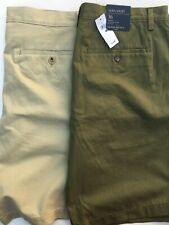"Banana Republic Aiden Shorts Mens - Two Pack - Green & Khaki - 36"" - NWT $108"