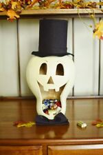 Meadowbrooke Gourds - Halloween- Skully The Skeleton Candy Dish Large - FSK-D