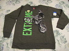 "HANES: BOY'S OR GIRL'S  EXTREME DIRT BIKE ""GLOW IN THE DARK"" SWEATSHIRT/MED. NWT"