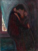 Edvard Munch: The Kiss. Fine Art Print/Poster