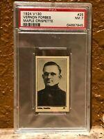 1924 V130 Maple Crispette 25 Vernon Forbes PSA 7 Pop 1/0^ Sharp Corners Centered
