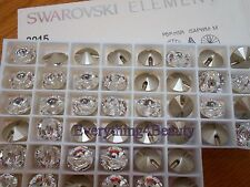 6 x Swarovski Buttons round sew on crystals 3015 14 mm rivoli Dresses Clothes