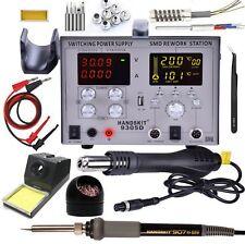 800W 4in1 9305D 110V Heat Hot Air Gun Rework Station Soldering iron Power Supply