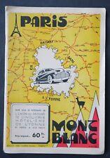 Guide touristique PARIS MONT BLANC en passant dans l'YONNE automobile