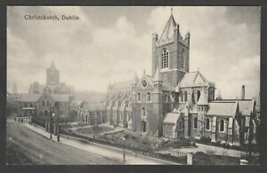 Postcard Dublin Ireland early view of Christchurch by Foley