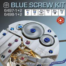 BLUE SCREWS FOR MOVEMENT ETA UNITAS 6497 + 6498, 12 PCS SET - SORTED BY ART. NO