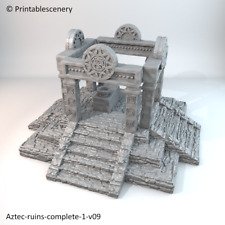 Aztec Ruins 28mm Tabletop Games Printable Scenery Dwarven Forge D&D Terrain