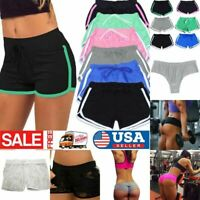 Women Sport Shorts Athletic Gym Workout Running Fitness Yoga Leggings Pants US