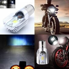 Hot H6 BA20D DC 12-85V 12W COB LED Motorcycle Hi/Lo Beam Headlight Bulb White