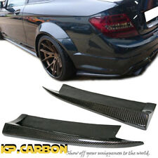 For 12-14 M-Benz W204 C-Class C63AMG Bumper Carbon Fiber Rear Side Splitter Lips