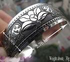New Tibetan Tibet Silver Totem Bangle Cuff fish Flower Bracelet