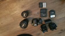 Nikon D3500 Bundle: 3 lens, two batteries & charger, flash, filters