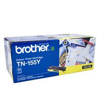Brother TN-155 Toner Cartridge, TN155Y Yelow Laser Toner Cartridge, New Genuine