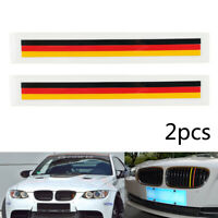 2 PCS Front Grill Grille Lining Strips Sticker Becal German Flag For BMW A9