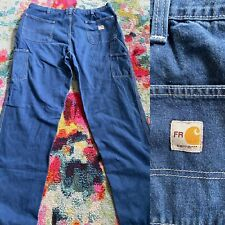 Carhartt FR Mens Carpenter Denim Jeans • 38x30 Preowned • 290-83 ARC 2 NFPA 2112