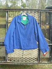 Vintage Nwt London Fog Mens Lightweight Blue Spring Golf Zipper Jacket 40R