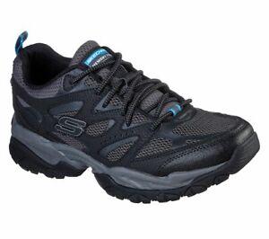 Skechers Black shoes Men Memory Foam Sporty Train Comfort Casual Leather 52704