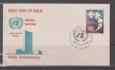 Philippine Stamps 1985 United Nations 40th Ann. On FDC