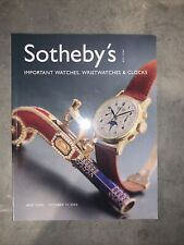 Sothebys Important Watches New York 2003