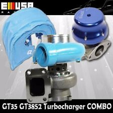 EMUSA BLUE GT35 TURBO+MESH BLANKET+WASTEGATET3 AR.70/82 ANTI-SURGE COMPRESSOR
