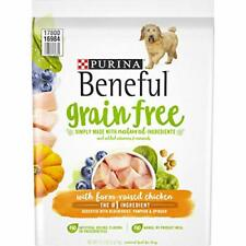 Purina Beneful Grain Free Natural Dry Dog Food Grain Free With Real Farm Rais...