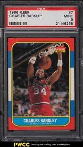 1986 Fleer Basketball Charles Barkley ROOKIE RC #7 PSA 9 MINT
