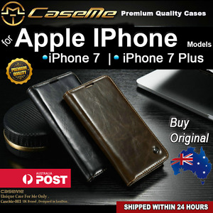 Premium Magnetic Luxury Flip Leather Wallet Cover Case for Apple iPhone 7 / plus