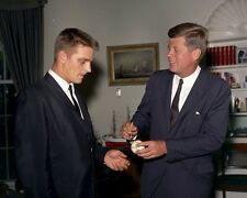 President John F. Kennedy with New York Yankee Roger Maris New 8x10 Photo