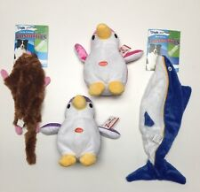 Pet Lovers Set of 4 GRRiggles Unstuffies & Zanies Dog Toys Brand New.