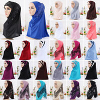Womens Muslim Hijab Print Scarf Headscarf Soft Shawl Scarves Wrap Turban Cap Lot