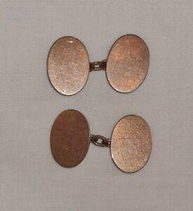 9ct Rose Gold Cuff Links