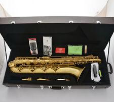 Professional TaiShan Brushed Brass Baritone Saxophone Eb Sax Germany Mouthpiece