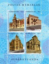 Azerbaijan stamps 2019 Polish Architects in Azerbaijan. Joint Issue Poland