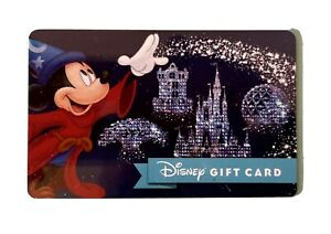 WALT DISNEY Fantasia Fantasmic Wizard DISNEYLAND GIFT CARD
