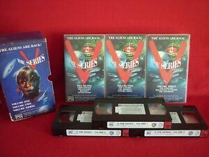 V THE SERIES BOX SET 3 VHS VIDEOS CLASSIC SCI-FI SERIES VGC