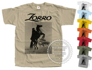 ZORRO v9 T SHIRT 1957 Vintage Colors Movie Poster all sizes S-5XL