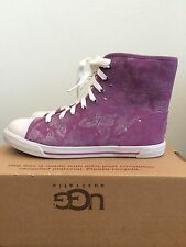 * UGG Girls Youth Kids Size 6 Johney High Top Canvas Tennis Shoe 1002469K DRDL