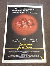 The China Syndrome 1979 Original Movie Poster Jane Fonda Jack Lemmon Spanish