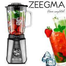 1600 Watt Edelstahl Standmixer 1,7L Glas-Behälter Smoothie Maker Blender ZEEGMA