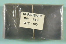 SUPERSAFE - 100 / PACK #6 USA  COVER POLY HOLDER - HEAVY WEIGHT    #SS-PP260